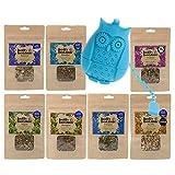 Paquete de 7 paquetes de Tisane por Holly Botanic – 1 paquete (7 infusiones sueltas de 20 tazas)
