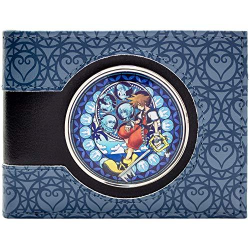 Kingdom Hearts Sora in Buntglasfenster Schwarz Portemonnaie Geldbörse