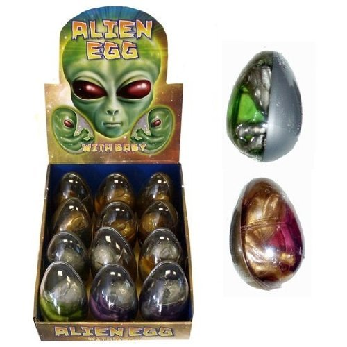 12 x GIANT Hatching ALIEN Gel Bouncing Putty EGG Wholesale Bulk Buy by Henbrandt