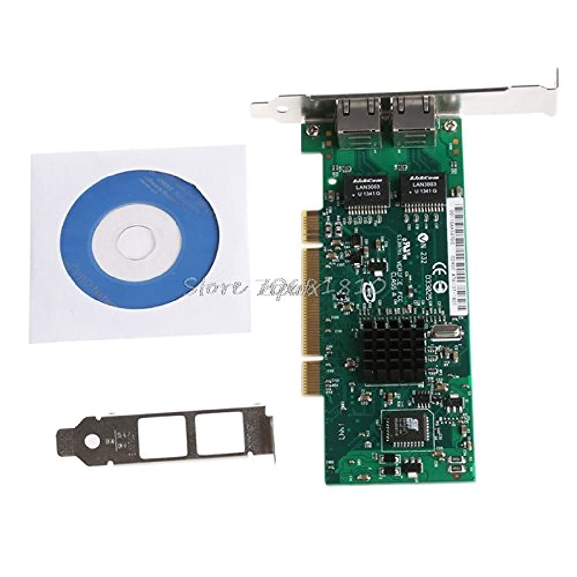 注入する容赦ない曲がったhariier PCIデュアルrj45ポートギガビットイーサネットLANネットワークカード10?/ 100?/ 1000mbps forインテル82546?z09ドロップ出荷