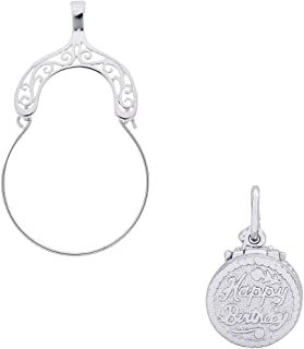 Rembrandt Charms Birthday Cake Charm on an Optional Charm Holder