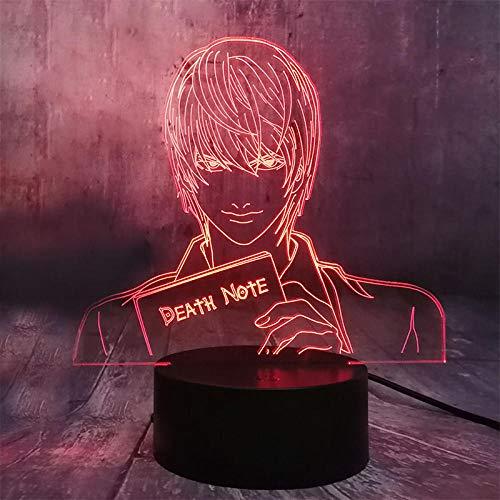 Luces de ilusión 3D 3D Nightlight LED de 7 colores que cambian de teclas táctiles, lámpara de mesa USB, iluminación de dormitorio, decoración, regalo para niños