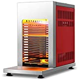 COSTWAY Propane Steak Infrared Grill, 1500℉ of Intense Heat, 7000 BTU Compact Outdoor Grill Machine, Large Heating Place, Stainless Steel, for Tailgating, Gas Cylinder Connection, CSA/ETL Certificated