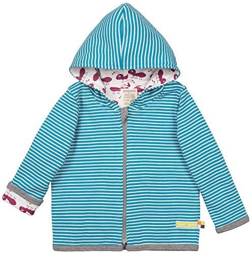 loud + proud Baby-Unisex Wendejacke aus Bio Baumwolle, GOTS Zertifiziert Jacke, Blau (Petrol Pe), (Herstellergröße: 62/68)