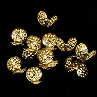 """The Ribbon People Club Pack of 200 Small Round Gold Craft Cording Caps .28"""""""
