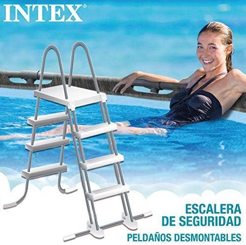 Intex 26742NP - Piscina desmontable INTEX, 457x122 cm, con depuradora cartucho, 3.785 litros/hora, filtro cartucho tipo A, piscina Greywood Prism Frame, 16.805 litros, piscina para 6 personas 4
