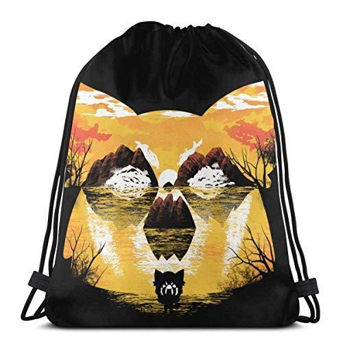 Yuanmeiju Drawstring Bag Sport Gym Sack Party Favor Bags Wrapping Gift Bag Drawstring Backpacks Storage Goodie Bags Cinch Bag Aggretsuko Aggrive Sunset