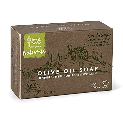 Little Soap Olive Oil Soap Bar - Mediterranean Range Bar of Soap for...