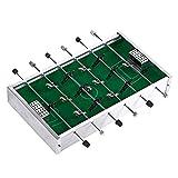 AJH Deluxe Mini Table Top Pool Table Foosball Mini Desktop Football Futbolín, Regalo para niños en Interiores y Exteriores, Juguetes de Juego de Pelota de Mesa (Color: Si