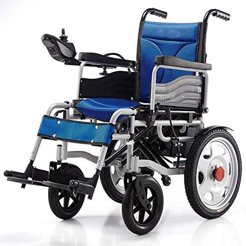OSL Silla de ruedas eléctrica, silla de ruedas plegable eléctrica Silla de ruedas inteligente inteligente Súper resistencia Silla de ruedas para ancianos segura fdg OSL/Azul