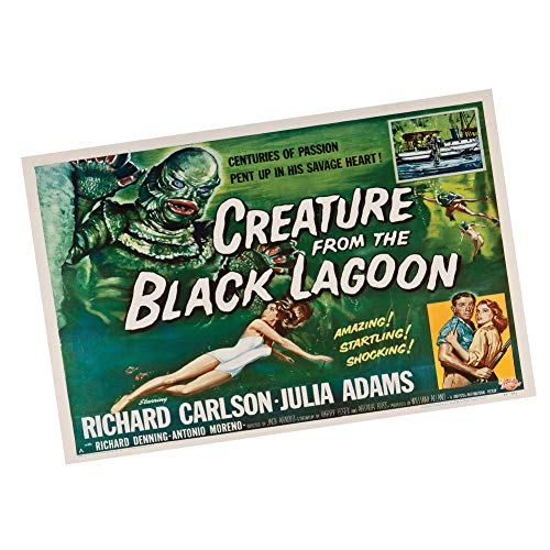 Creature from The Black Lagoon Posters Classic Movie Posters Old Movie Posters 1950's 60's (One 24x36 in. Poster)