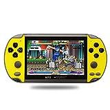 JINGQII X7 4.3 pulgadas consola de juegos portátil Nostálgico Dual-Shake Game Console 8G incorporado 6000 juegos, soporte GBC/GBA/FC/MD/Arcade/NES/CPS/SFC Juegos