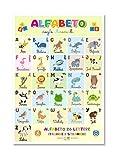 Readyprint Alfabeto degli Animali, Poster in Italiano, Educativo, Divertente, per arredo camerette Bimbi e Scuole d'infanzia, Anti Strappo, Impermeabile, Lavabile, Mis. 30 x 42 cm