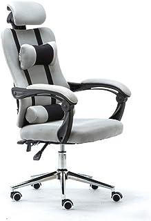 YUTRD ZCJUX Silla de Oficina de Carreras Silla ergonómica reclinable con Respaldo Alto Silla de Escritorio para computador...