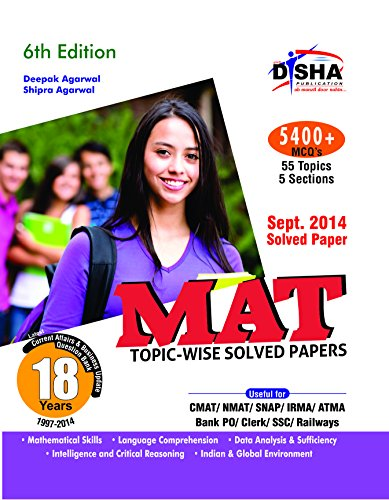 MAT 18 years Topic-wise Solved Papers (1997-2014) 6th Edition