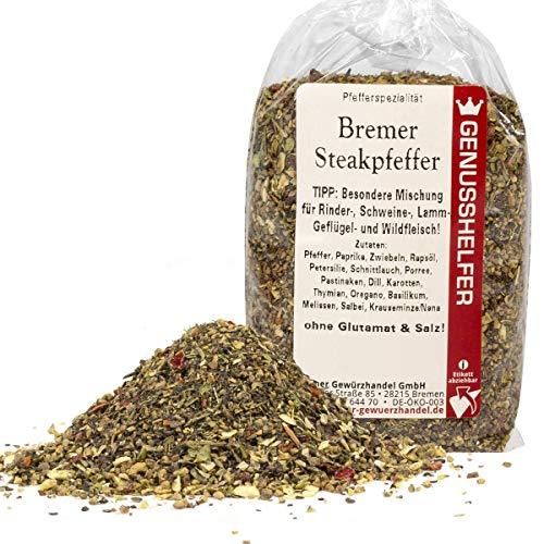 Bremer Steakpfeffer 80 Gramm geschrotete Pfeffer Gewürzmischung, ohne Zusatzstoffe & ohne Geschmacksverstärker - Bremer Gewürzhandel