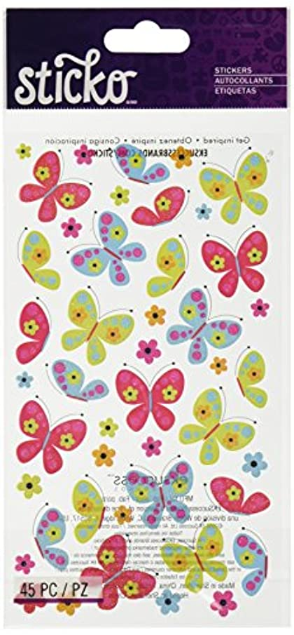 Sticko Classic Stickers-Spicy Butterflies