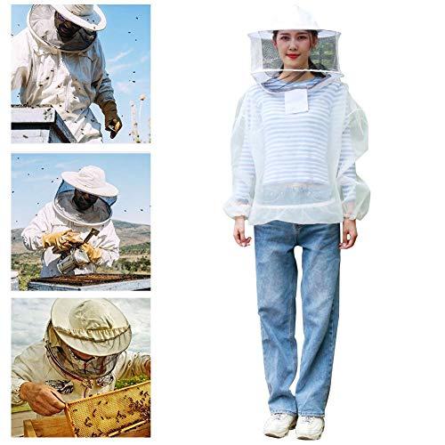 Imkerei-Anzug Bienenjacke Imker-Jacken-Anzug-Outfit mit abnehmbarem Schleier für Imker im Hinterhof und für Anfänger