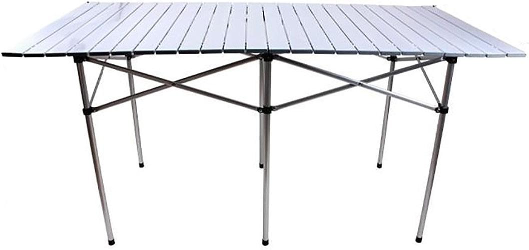 Table pliante réglable Table portative extérieure Ultra-légère à la Maison Table multifonctionnelle en Aluminium Peut être tourné