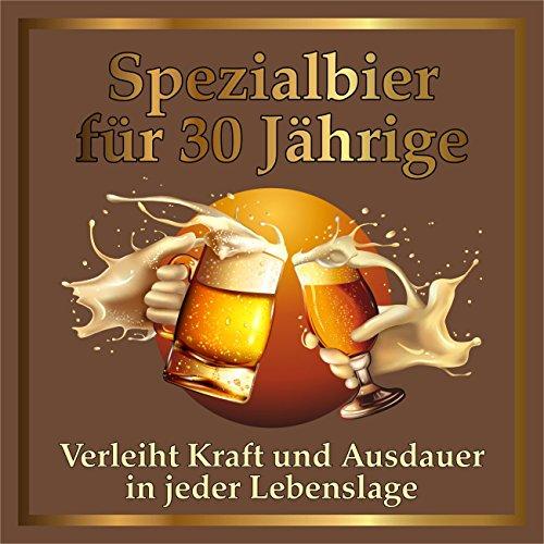 RAHMENLOS 5 St. Original Design: Selbstklebendes Bier-Flaschen-Etikett zum 30. Geburtstag.