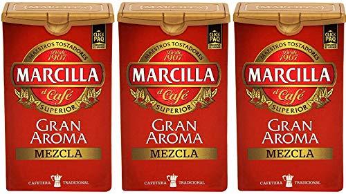 Marcilla Gran Aroma Mezcla Starke Gemahlene Kaffeemischunge 250 gr. - [Pack 3]