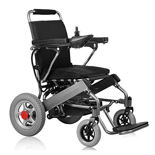 JINGBO Ultraleichter Faltbarer Elektrorollstuhl, Rollstühle Elektrische über Zwei Steuerfunktionen, 360 ° Joystick, Lithiumbatterie Elektro Mobilitätshilfe, 250W Double Motor