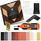 premium luxury set riparazione di laminati | parquet, laminato, mobili | stucco legno con [11] bastoncini di cera dura | fonditore di cera incl. batterie
