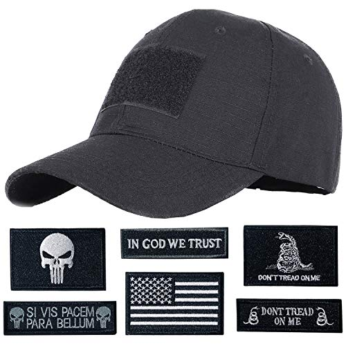 Hng Kiang Hu Tactical Hat with 6 Pieces Military Patches