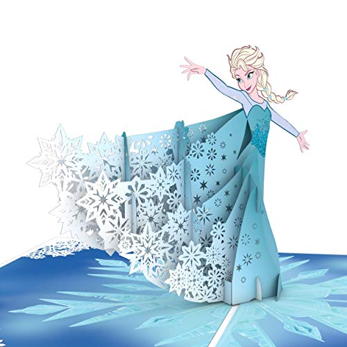 Lovepop Disney Frozen Elsa Pop Up Card - Greeting Card, 3D Cards, Pop Up Christmas Cards, Holiday Pop Up Card, Disney Cards, Pop Up Birthday Card