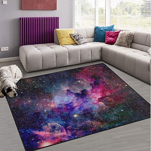 Galaxy Nebula naanle rutschfeste Bereich Teppich für Dinning Wohnzimmer Schlafzimmer Küche, 50x 80cm (7x 2,6m), Universum, Kinderzimmer-Teppich Boden Teppich Yoga-Matte, multi, 60 x 90 cm(2' x 3')