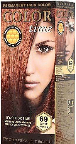 Color time, tinte permanente para el cabello de color pasión cobre 69