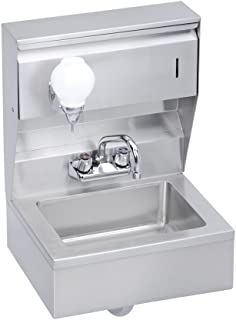 Economy Hand Sink, Featuring Soap and Towel Dispenser, Skirt and P-Trap, 18 (L) X 14.5 (W) X 22.375 (H) Over All