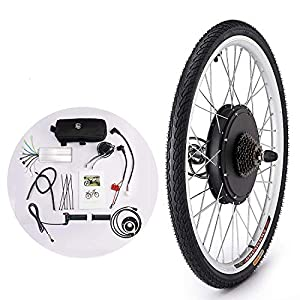 "Electric Bikes Sfeomi 36V 500W 26"" Electronic Bike Conversion Kit Brushless Motor Hub Control E-Bike Conversion Kit Front/Rear Wheels Speed Controller"