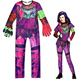 TranRay Descendants 3 Audrey Mal Girls Jumpsuit Halloween Cosplay Party Costume for Kids Outfits (Purple,9-10 Years)