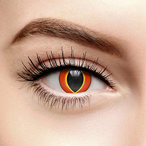 Chromaview Crazy Frog Farbige Kontaktlinsen Ohne Stärke Orange (30 Tage)