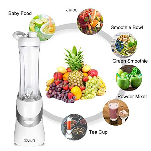 OZAVO Blender | Mini Blender Mixeur des Fruits | Mixer | 350W | Blender à Smoothie et à Milk-shake...