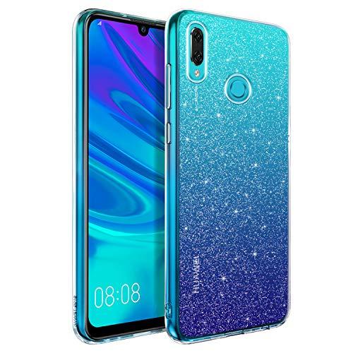 BENTOBEN Huawei P Smart 2019 Hülle Handyhülle Glitzer, Huawei P Smart 2019 Hülle Slim Anti Gelb Silikon Bumper Cover Ultra dünn Hülle für Huawei P Smart 2019 / Honor 10 Lite Bling Transparent