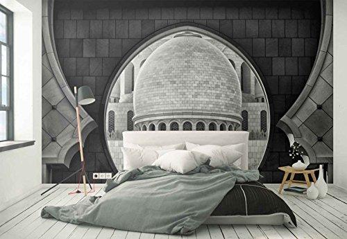 Vlies Fototapete Fotomural - Wandbild - Tapete - Kuppel Fenster Wände Fliesen Bögen - Thema Architektur - XL - 368cm x 254cm (BxH) - 4 Teilig - Gedrückt auf 130gsm Vlies - 1X-1270979V8