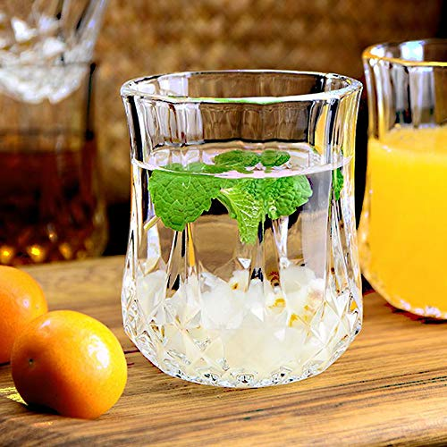 Ducati Posh Collection, Old Fashioned Glasses, Perfect for Serving Scotch,Water,Juice,Whiskey or Mixed Drinks (Clear)(Set of 2)