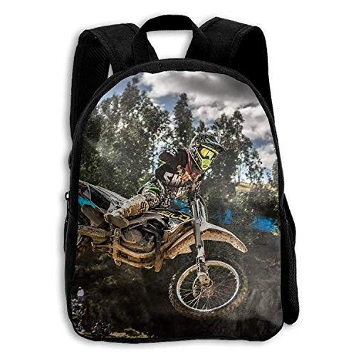 Motocross Sport Motorcycle Vehicle School Backpack Shoulder Daypack