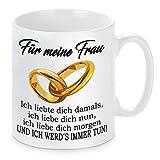 Lieblingsmensch Tasse Modell ' Ich liebte dich damals... - Frau', Keramik, Weiß, 11 x 11 x 11 cm, 1 Einheiten