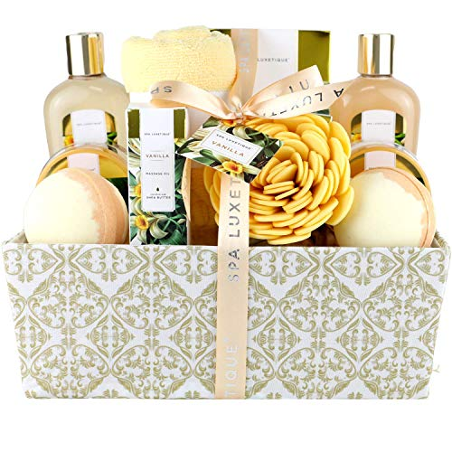 Spa Luxetique Spa Gift Basket, Bath Sets for Women, Luxury 12 Pcs Bath Gift Box, Relaxing at Home...