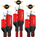 USB Type C Cable,AkoaDa 3 Pack (3.3ft, 6.6ft, 10ft) USB A to USB C Fast Charger Nylon Braided Cord, Samsung Galaxy Fold S8 S9 S10 Plus Note 9 8,Google Pixel 2 3 XL,LG V30,Moto Z3 Force(Red) (Renewed)