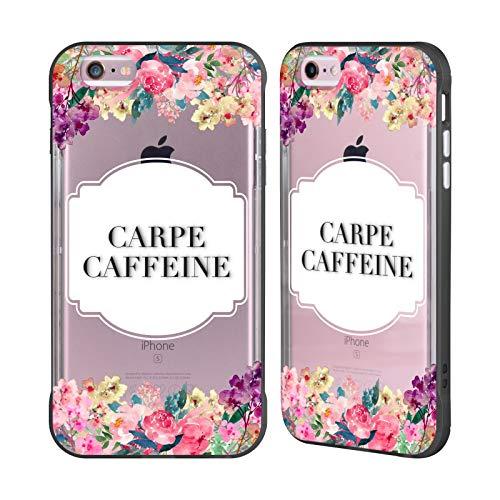 Head Case Designs Oficial Monika Strigel Cafeína Carpe Flores Y Citas Caso de Guardabarros Compatible con Apple iPhone 6 Plus/iPhone 6s Plus