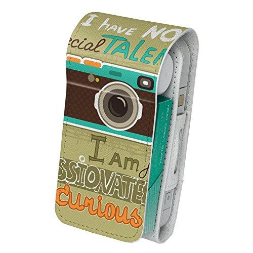 スマコレ IQOS専用 レザーケース 【従来型/新型 2.4PLUS 両対応】 専用 ケース カバー 合皮 カバー 収納 その他 カメラ 文字 英語 006563