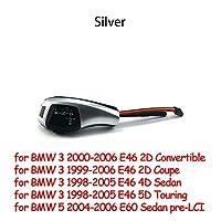 Big goose LEDギアシフトノブFIT BMW 1 3 5 6 7 x1 x3 x5 x5 z4 E81 E82 E87 E90 91 E62 E93 E39 E60 E61 E63 E64 E84 E58 E53 E85 E89 (Color Name : E46 E60 sliver)