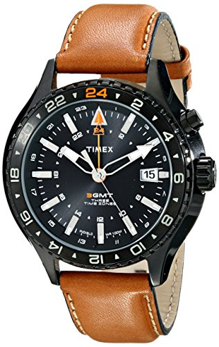 Timex Men's T2P427DH Intelligent Quartz Stainless Steel Watch with Brown Leather Band