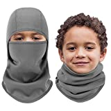 Aegend Kids Balaclava Windproof Ski Face Mask for Cold Weather, 1 Piece, Gray