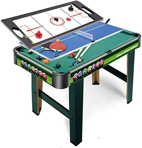 JWCN 3 in 1-2.5Ft Green Billardtisch + Air Hockey + Tennis Tischtennis Spielzeug für Kinder Kinder & Familie Home Office Spielen Uptodate