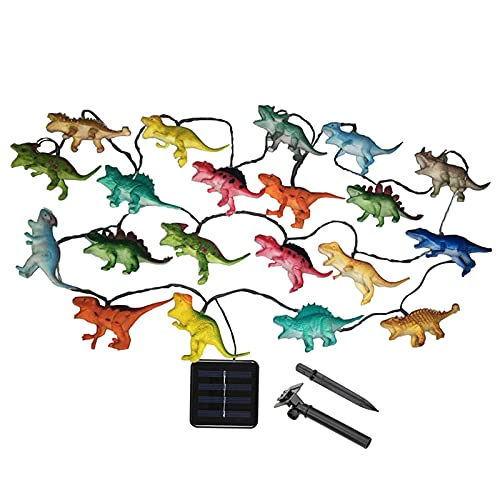 Dinosaur Animal Led Fairy Light String Battery Operated Warm Mini String of Lights Gift Ornaments for Indoor Outdoor Garden Bedroom Livingroom Children Kids Adult Birthday Party Decoration